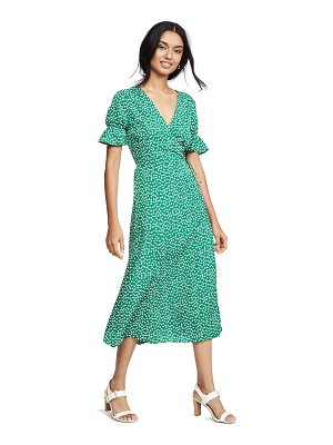 re:named re: named drew polka dot wrap dress