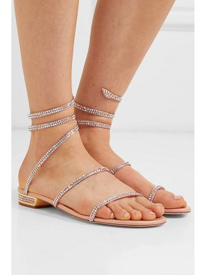 Rene Caovilla cleo crystal-embellished metallic leather sandals