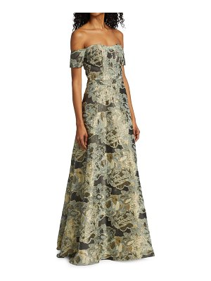 Rene Ruiz Collection coupe off-the-shoulder gown
