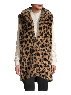 RENVY Animal-Print Faux Fur Vest