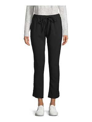 RENVY Contrast-Trim Cropped Joggers