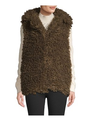 RENVY Faux Fur Shaggy Vest