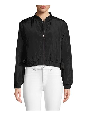 RENVY Lace-Up Side Cropped Bomber