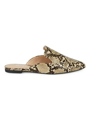 RENVY Maggie Snakeskin Print Mules