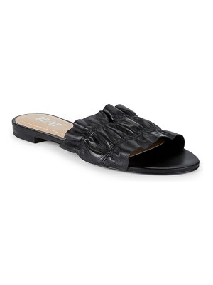RENVY Ruffled Leather Slides