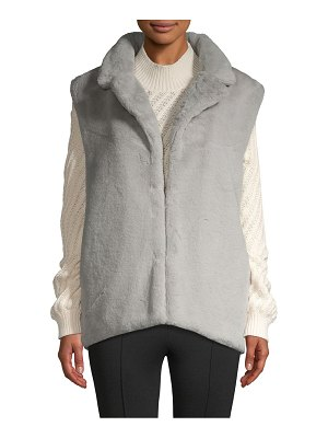 RENVY Short Faux Fur Vest