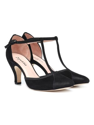 Repetto Baya suede T-bar pumps