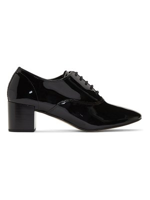 Repetto black patent fado oxford heels