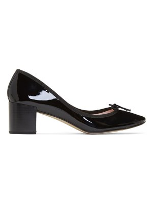 Repetto black patent farah heels