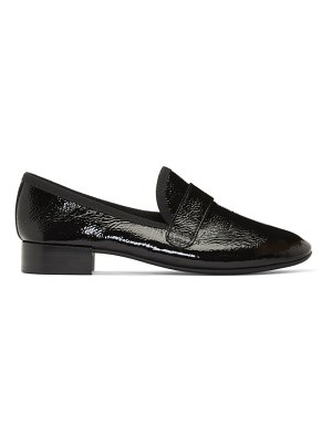 Repetto black wrinkled patent maestro loafers
