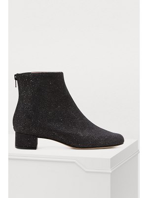 Repetto Glitter leather ankle boots