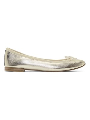 Repetto gold metallic cendrillon ballerina flats