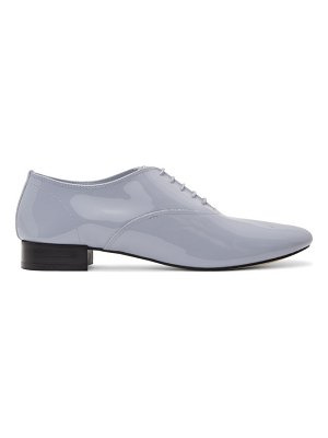 Repetto grey patent zizi oxfords