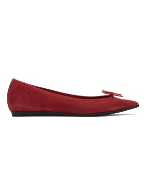 Repetto red suede junon ballerina flats