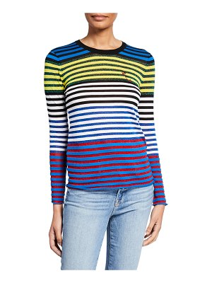 Replica Los Angeles Cool Stripe Metallic Embroidered Safety Pin Tee