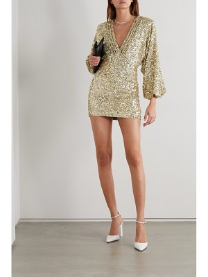 Retrofête aubrielle sequined chiffon mini dress