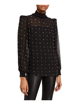 retrofete Ava High-Neck Crystal Top