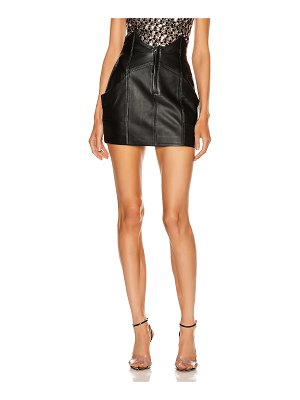 retrofete fae leather skirt