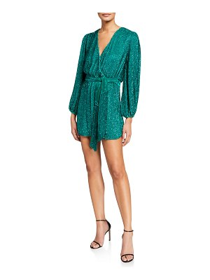 retrofete Julie Sequined Blouson-Sleeve Cocktail Dress