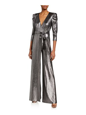 retrofete Monroe Metallic 3/4-Sleeve Jumpsuit