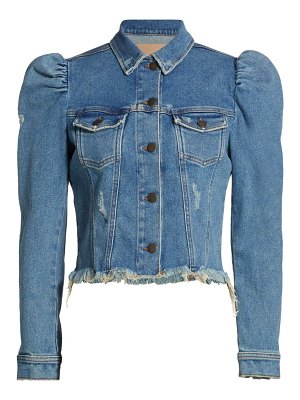 Retrofête rissa puff-sleeve denim jacket
