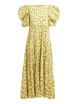 Rhode aurora floral print tiered cotton dress