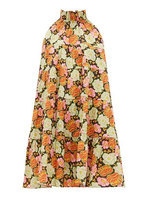 Rhode billy tiered floral-print cotton mini dress