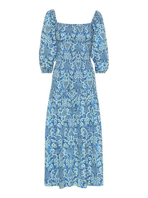 Rhode harper printed cotton midi dress