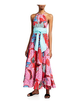 Rhode Julia Floral-Print Trapeze Dress