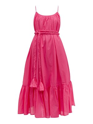 Rhode lea tiered cotton voile dress