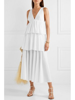 Rhode leela tiered fil coupé cotton maxi dress