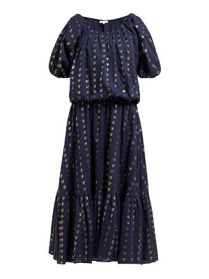 Rhode frida heart fil coupé cotton blend midi dress
