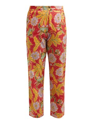 Rhode rohan floral print cotton trousers