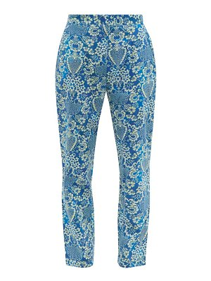 Rhode rohan floral-print cotton trousers