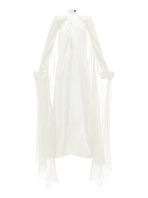 RICHARD QUINN bow-embellished silk-georgette gown