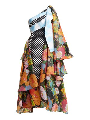 RICHARD QUINN draped floral print asymmetric dress