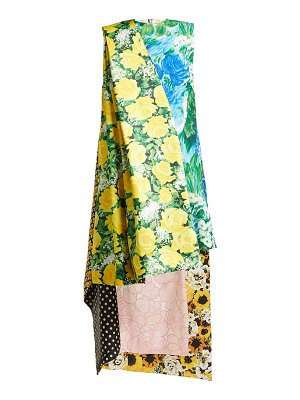 RICHARD QUINN floral print asymmetric satin dress