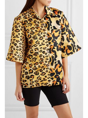 RICHARD QUINN leopard-print satin shirt