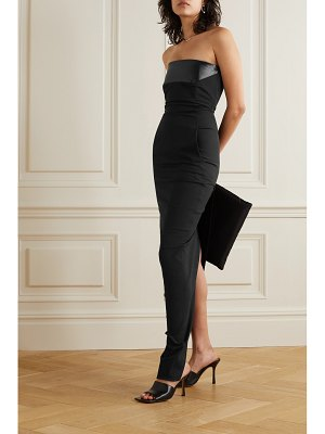 Rick Owens abito strapless satin-trimmed cotton-blend crepe gown