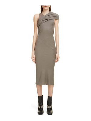 Rick Owens asymmetrical wool midi dress