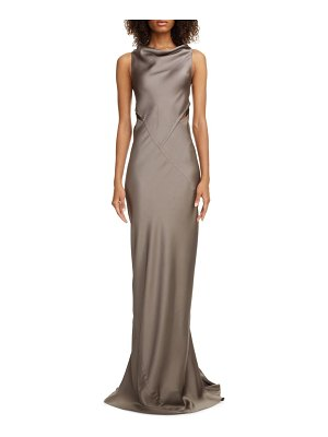Rick Owens back cutout hammered satin gown