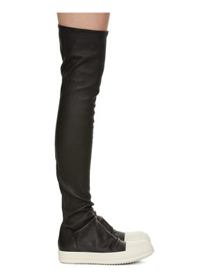Rick Owens black and off-white stocking tall boots