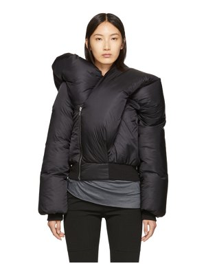 Rick Owens black doll bomber jacket