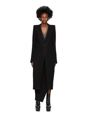 Rick Owens black neue tailored coat