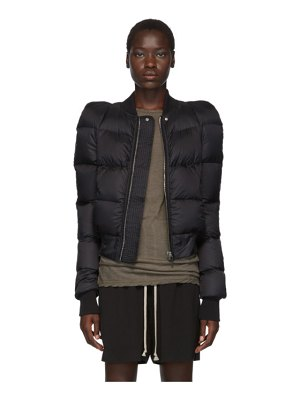 Rick Owens black new bomber jacket