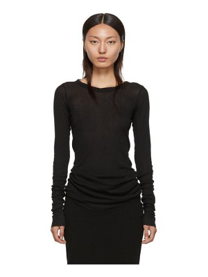 Rick Owens black rib long sleeve t-shirt
