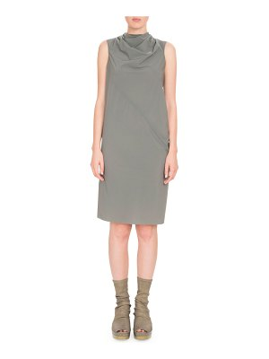 Rick Owens Bonnie Draped Knee-Length Dress