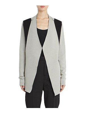 Rick Owens dirt bicolor long sleeve cardigan