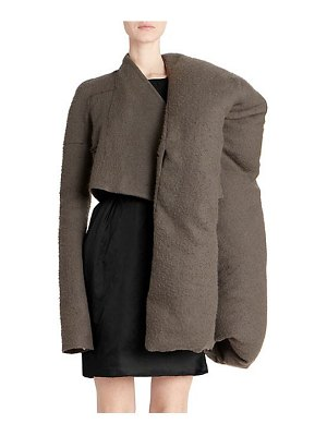 Rick Owens doll mantle cropped pillow jacket