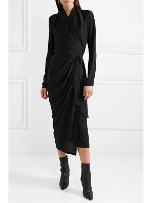 Rick Owens draped silk crepe de chine wrap dress